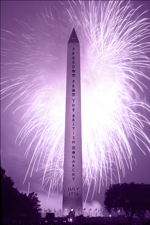 declaration of independence purple tone