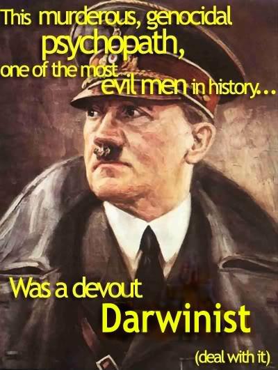 AMERICAN PSYCHOLOGICAL ASSOCIATION & ILLUMINATI COERCION: PLAYING BOTH SIDES OF DARWIN! Evil_darwinisthitlerg