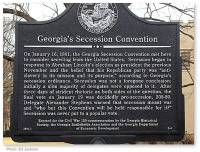 Georgia Secession Convention Marker