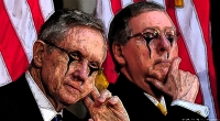 Two Bank Communists Working The Fraudulent Polarity Of Democrat & Republican: Reid & McConnell