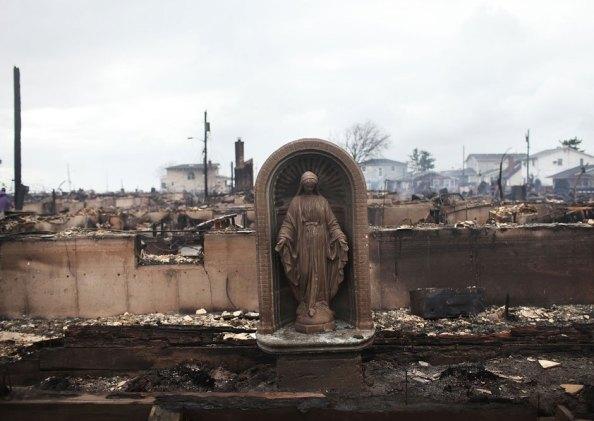 Virgin Mary After Hurricane Sandy.