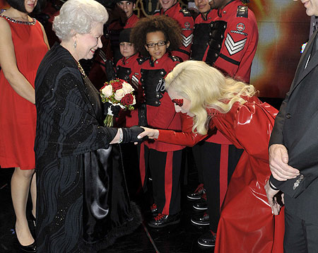 The Rise of Fakectivism in American Media!  The-queen-and-lady-gaga-pic-rex-237552190