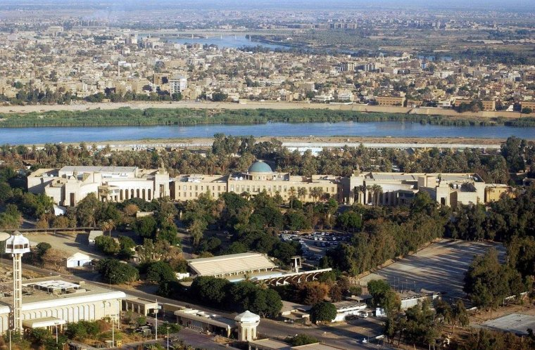 Looking Over The U.S. Embassy Baghdad