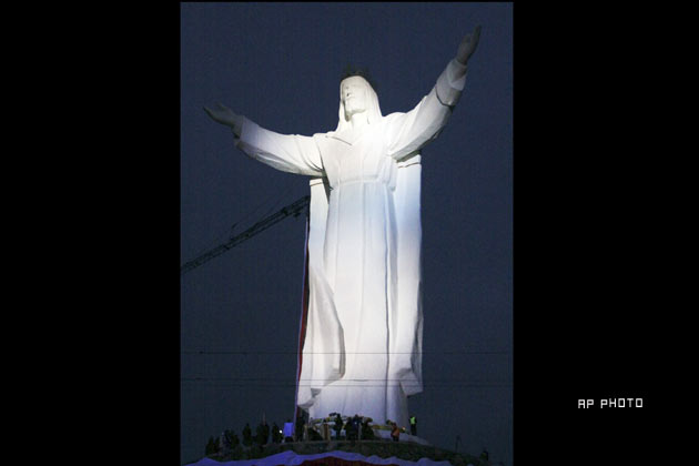 Largest statue of Jesus Christ in the World. Poland
