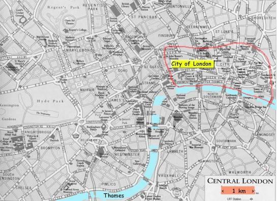 Rothschild's City Of London Inside Greater London.