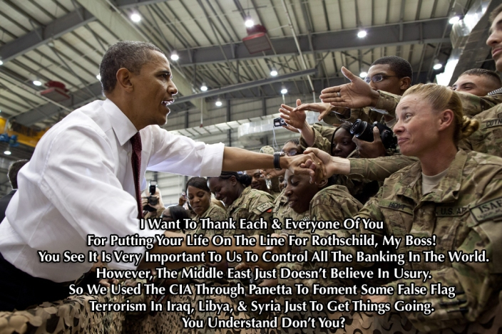 Egyptian Legal Authorities Charge Obama And Hillary Clinton: Criminal Conspiracy With Muslim Brotherhood. Obama-troops3