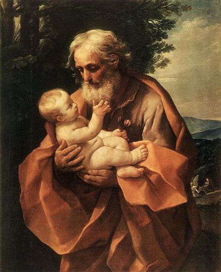 Saint Joseph With Infant Jesus.