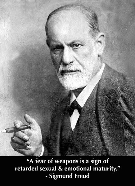Sigmund Freud fear of weapons guns