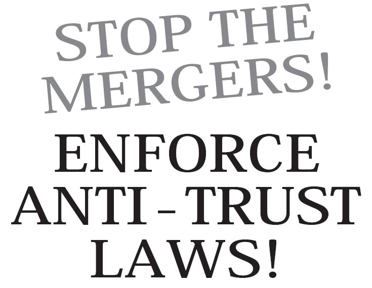 no enforcement of anti-trust laws