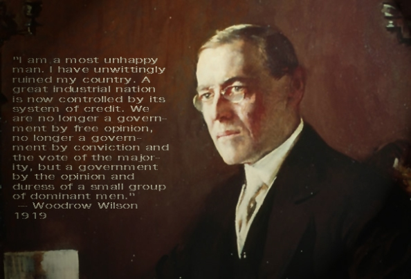 Rothschild Stooge Wilson. In office from 1913 to 1921. Rothschild Federal Reserve started 1913.