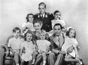 Magda & Joseph Goebbels With Children.