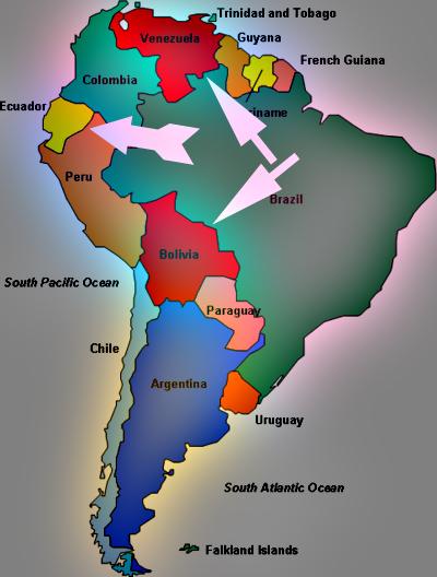 Equador bolivia venezuela