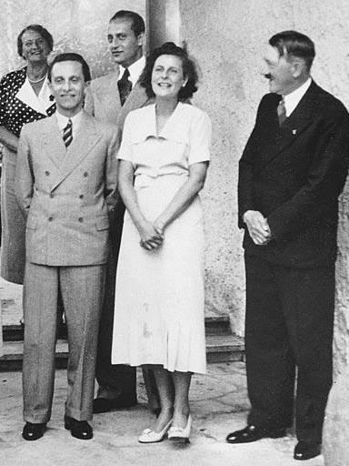 Joseph & Magda Goebbels With Adolf Hitler