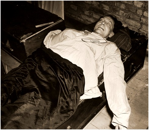 "Hermann Göring Suicide In Nuremberg Prison.""We are all just fragments....We are nothing."" (Hermann Goering 1893-1945.)"