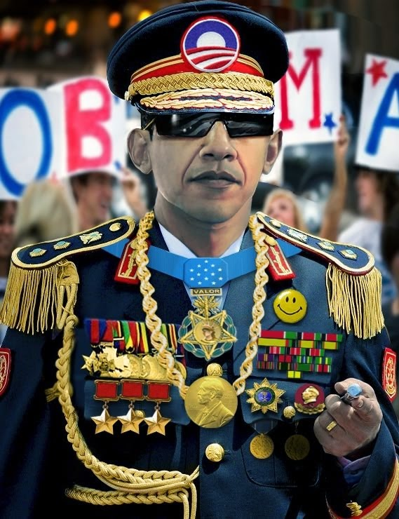 Image result for obama dressed up in fake military uniforms