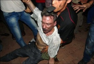 Libyan Ambassador, Christopher Stevens. Murdered by CIA fomented scheme for NWO to take over Libya's Financial system.