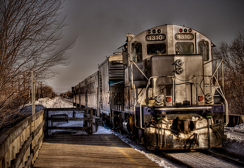 Train leaving for Delson