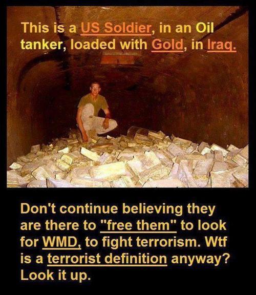 gold iraq soldier