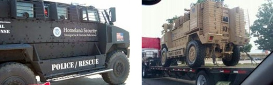 Obama's FEMA Hitler Youths Armed Fighting Vehicles.