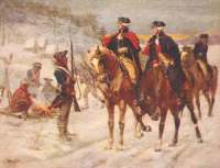 Washington and Lafayette look over the troops at Valley Forge In Our Fight For Independence!