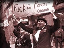 fuck billionaire poor protest