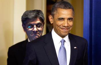 Jack Lew & Barrack Obama