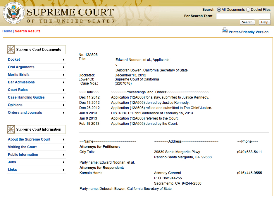 Update Orly Taitz Noonan Case Us Supreme Court Denies Only To