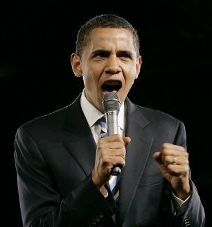 obama yell