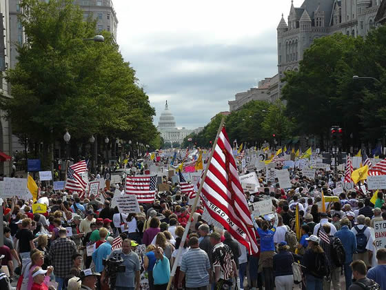 Protest March Upon Obama