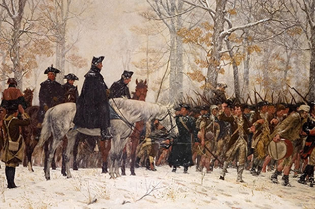 Washington At Valley Forge Fighting The Rothschild Banking Cabalists Of Britain!