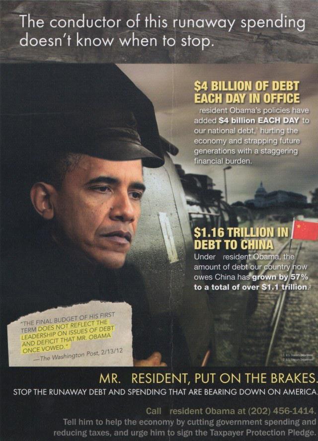obama debt train