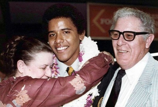 Barry Soetoro (Name From Indonesia) With Maternal Grand Parents.