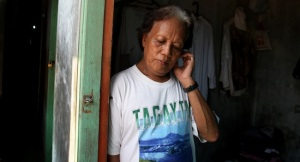 "Barack Obama's ""transgender ex-nanny""In this Friday, Jan. 27, 2012 photo, Evie, also known as Turdi, the former nanny of U.S. President Barack Obama, stands at the doorway of her room at a boarding house in a slum in Jakarta, Indonesia. Evie, who was born a man but believes she is really a woman, has endured a lifetime of taunts and beatings because of her identity. Nobody knows how many transgenders live in the sprawling archipelagic nation of 240 million, but activists estimate 7 million. However, societal disdain still runs deep - when transgenders act in TV comedies, they are invariably the brunt of the joke. (AP Photo/Dita Alangkara)"