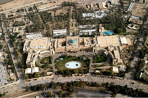 United States Embassy In Baghdad. Largest Embassy In The World.