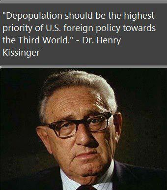 kissinger depopulate