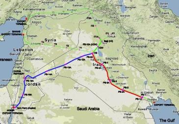FROM BASRA, IRAQ TO AQABA, JORDAN. THE 1,056 DOUBLE OIL PIPELINE
