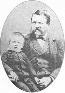 Young Adolph With Father Alois Schicklgruber (1837-1903).