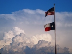 United States & Texas Flag