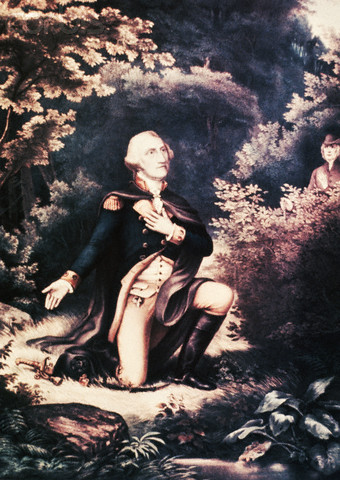 George Washington Prays at Valley Forge by D.S. Duval