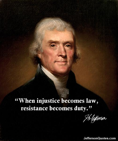President Jefferson injustice law