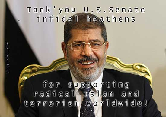 Morsi Received Tanks & Jets By Our Corrupt Senators & Then The People Stepped Up An Deposed HIm IN Just After A Year!