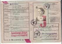 NATIONAL ID WAS FIRST EMPLOYED IN NAZI GERMANY ~ Nazi J Stamp