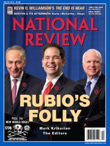 Rubio doing the bidding of the Zionist NWO.