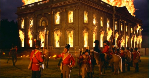 British Banker's Army Burning The White House.