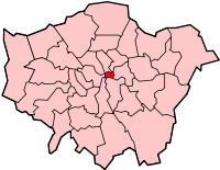 """CITY OF LONDON: See That Little Red Dot? That Is The """"City Of London"""" Inside The Greater London. This Is Where The Rothschild Banking Cabal Is Located ~ This IS WHere The NWO Is Based. As It Was During WWI, WWII, & Maybe WWIII. But THe World Is Awakened."""
