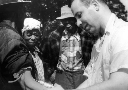 In 1966 U.S. Patriot Peter Buxton blew the whistle on the U.S. Public Health Service's Tuskegee Experiment, in which poor rural black men in Alabama were not told they had acquired syphilis (which they had previously contracted) as part of an experiment to learn about the long-term affects of untreated syphilis. Photo: File