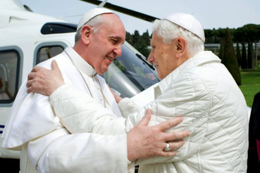 Pope Francis 1 With Pope Benedict XVI