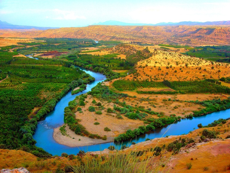 This Is The Greater Zab River By The City Of Eribil, Iraq Northern Kurdistan region.