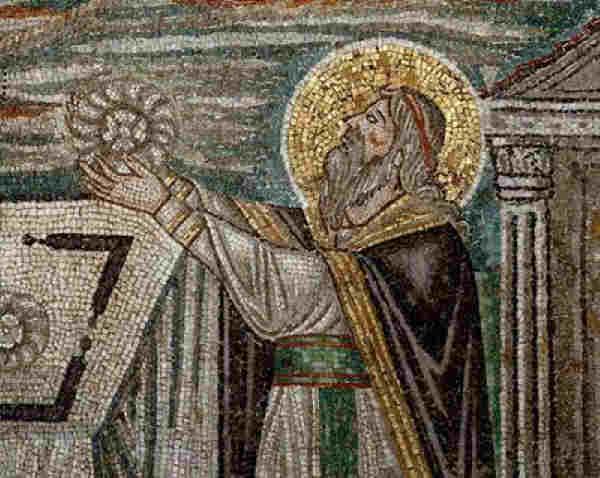 Melchizedek. Mosaic of