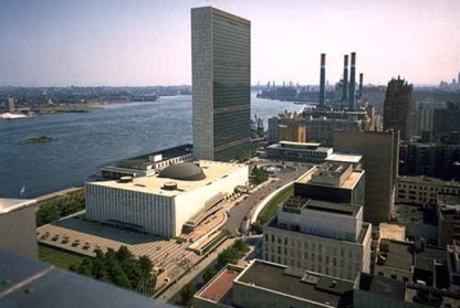 U.N. Building ~ Where evil oozings of Rothschild greed culminates.